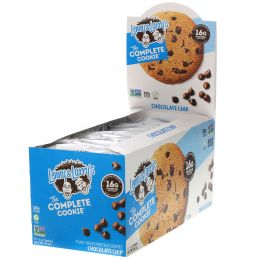 Lenny & Larry's, Complete Cookie, с шоколадными чипсами, 12 шт, одно печенье - 4 унции (113 гр)