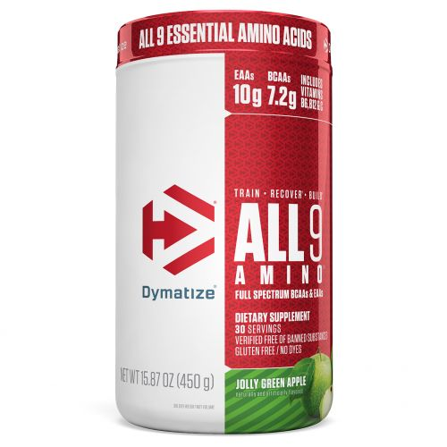 Dymatize Nutrition, All 9 Amino, Веселое зеленое яблоко, 15,87 унц. (450 г)