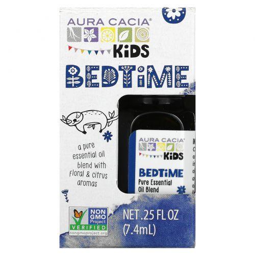 Aura Cacia, Kids, Pure Essential Oil Blend, Bedtime, .25 fl oz (7.4 ml)