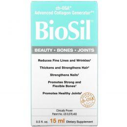 BioSil by Natural Factors, BioSil, ch-OSA улучшенный генератор коллагена, 0,5 жидких унций (15 мл)