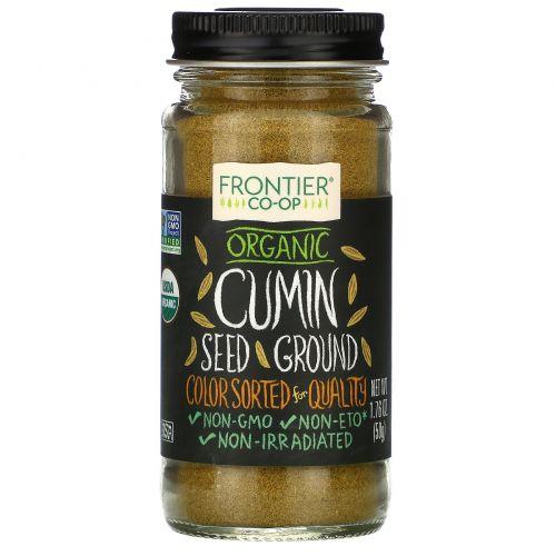 Frontier Natural Products, Органические семена зиры, молотые, 1,76 унции (50 г)