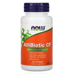 Now Foods, Аллибиотик CF, 60 мягких капсул