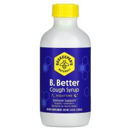 Beekeeper's Naturals, B.Better, Cough Syrup, Nighttime, 4 fl oz (118 ml)