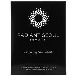 Radiant Seoul, Plumping Sheet Mask, 5 Sheet Masks, 0.85 oz (25 ml) Each