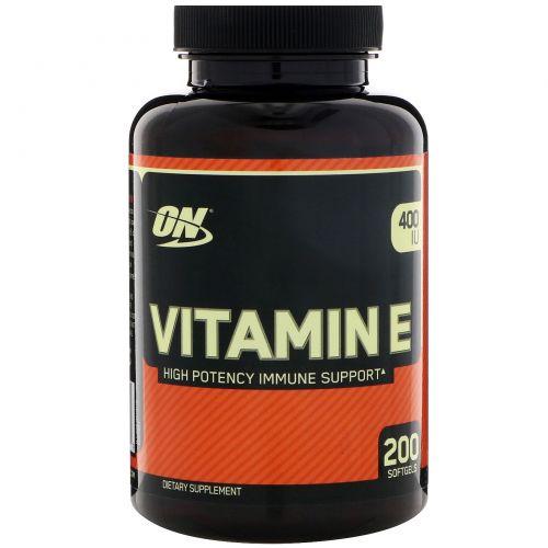 Optimum Nutrition, Vitamin E, 400 IU, 200 Softgels