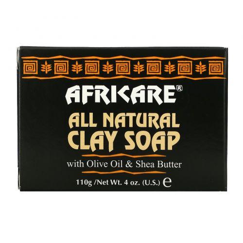 Cococare, Africare, Полностью натуральное мыло с глиной, 4 унции (110 г)