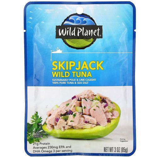 Wild Planet, Skipjack Wild Tuna, 3 oz (85 g)