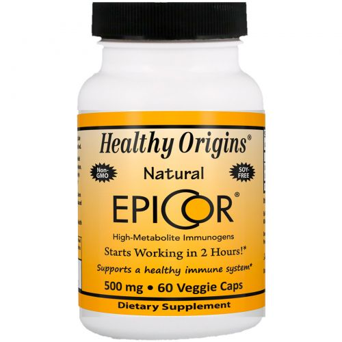 Healthy Origins, EpiCor, 500 мг, 60 капсул