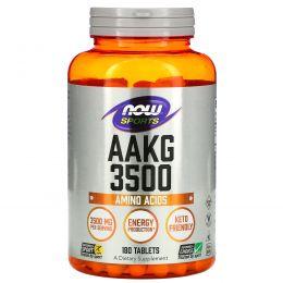 Now Foods, Аргинин альфа-кетоглутарат 3500 для спортсменов, 180 таблеток
