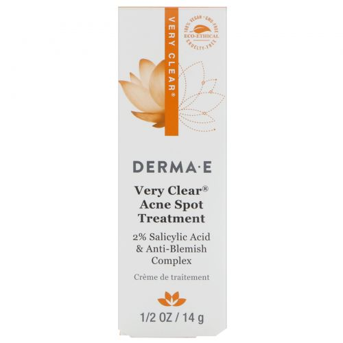 Derma E, Исключительно прозрачное средство для устранения пятен акне, 14 г