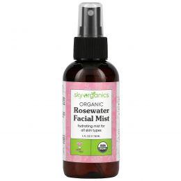 Sky Organics, Rosewater Toner, 100% Pure Organic, 4 fl oz (118 ml)