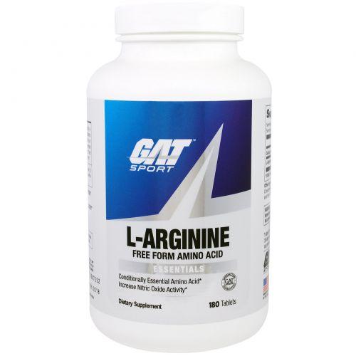 GAT, L-аргинин, 180 таблеток