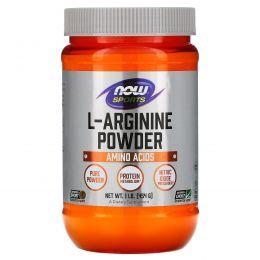 Now Foods, Порошок L-аргинин, 1 фунт (454 g)