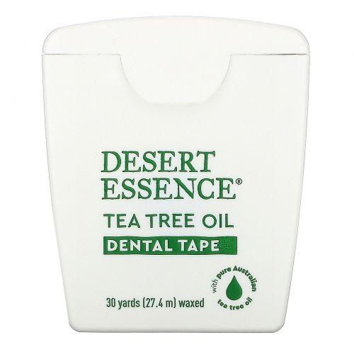 Desert Essence, Tea Tree Oil Dental Tape, Waxed, 30 Yds (27.4 m)