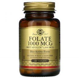 Solgar, Фолиевая кислота, 1000 мг, 120 таблеток