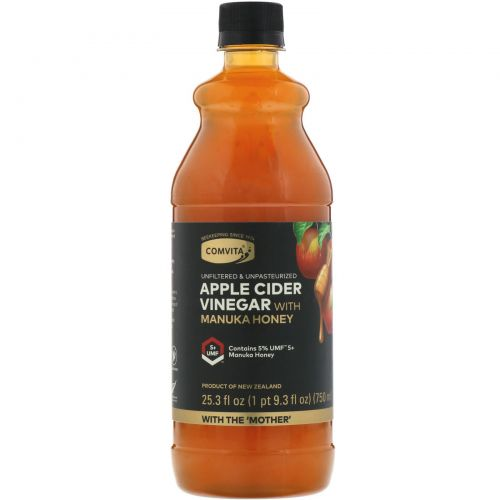 Comvita, Яблочный уксус с медом манука, UMF 5+, 25,3 ж. унц. (750 мл)