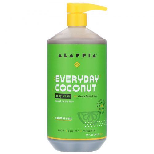 Everyday Coconut, Body Wash, Ultra Hydrating, Dry/Extra Dry Skin, Coconut Lime, 32 fl oz (950 ml)