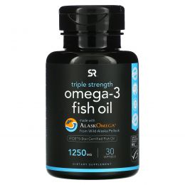 Sports Research, Omega-3 Fish Oil, Triple Strength, 1250 mg, 30 Softgels