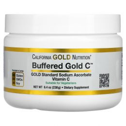 California Gold Nutrition, Забуференный витамин C, порошок витамина C, некислый, аскорбат натрия, 238 г (8,40 унций)