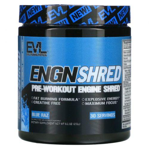EVLution Nutrition, ENGN Shred, предтренировочный Blue Raz, 231 г (8,1 унций)