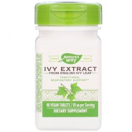 Nature's Way, Ivy Extract, Respiratory Health, 50 mg, 90 Tablets