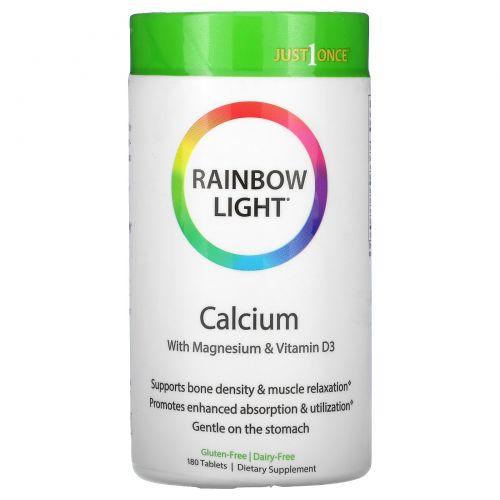 Rainbow Light, Just Once, Пищевой кальций, 180 таблеток