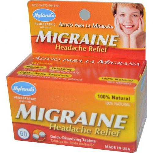 Hyland's, Таблетки от мигрени, 60 таблеток