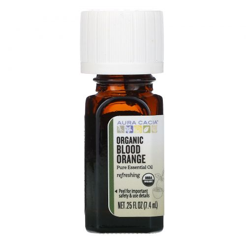 Aura Cacia, Pure Essential Oil, Organic Blood Orange, .25 fl oz (7.4 ml)