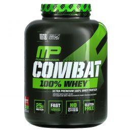 Muscle Pharm, Combat, 100% сывороточный протеин, клубника, 80 унции (2269 г)