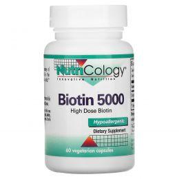 Nutricology, Биотин 5000, 60 капсул в растительной оболочке