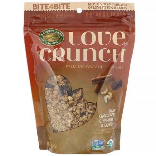 Nature's Path, Гранола Love Crunch, темный шоколад, корица и кешью, 325 г (11,5 унций)