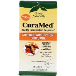 EuroPharma, Terry Naturally, Terry Naturally, CuraMed, 750 мг, 120 мягких желатиновых капсул
