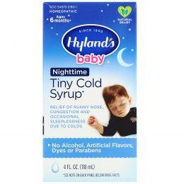 Hyland's, Детский сироп от простуды Nighttime Tiny Cold Syrup, 4 жидких унции (118 мл)