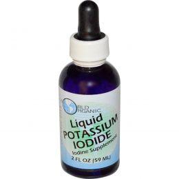 World Organic, Жидкий йодид калия, 2 жидких унции (59 мл)