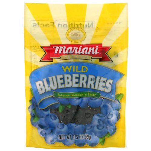 Mariani Dried Fruit, Premium, Wild Blueberries, 3.5 oz (99 g)