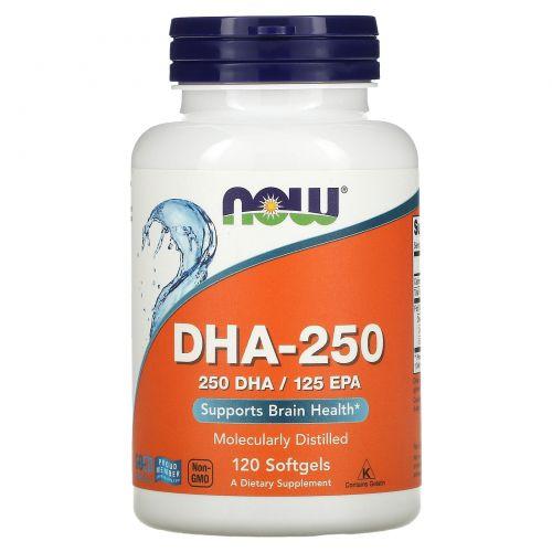 Now Foods, Докозагексаеновая кислота (DHA), 120 мягких капсул