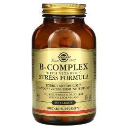 Solgar, Комплекс витаминов B, с витамином C, формула против стресса, 250 таблеток
