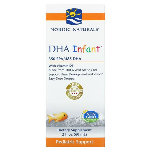 Nordic Naturals, DHA Infant, with Vitamin D3, 2 fl oz (60 ml)