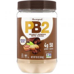 PB2 Foods, Арахисовое масло PB2 (сухой порошок) с шоколадом, 16 унций (453,6 г)