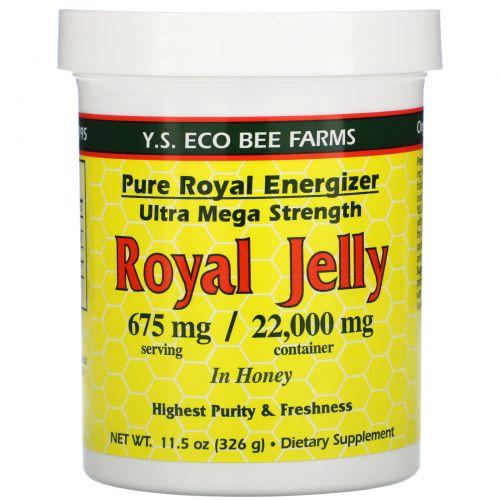 Y.S. Eco Bee Farms, Маточное желе в меду, 675 мг, 11,5 унций (326 г)
