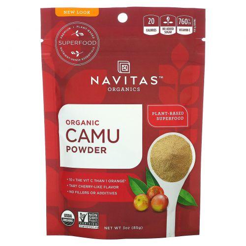 Navitas Organics, Органический порошок камю, сырой порошок камю-камю, 3 унции (85 г)
