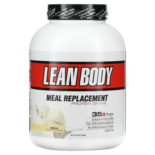 Labrada Nutrition, Lean Body, высокопротеиновый котейль, заменитель пищи, ваниль, 4,63 фунта (2100 г)
