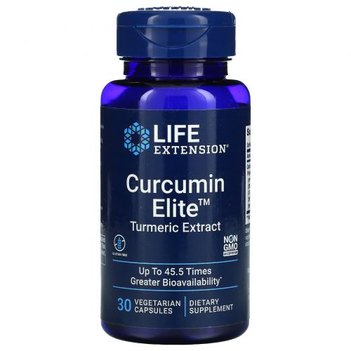 Life Extension, Curcumin Elite, экстракт куркумы, 30 растительных капсул