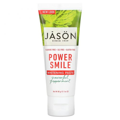 Jason Natural, Powersmile, Antiplaque & Whitening Toothpaste 3 oz