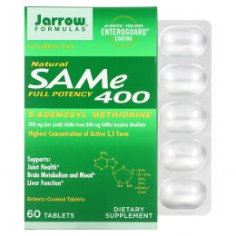 Jarrow Formulas, SAM-e (S-аденозил-L-метионин ) 400, 60 таблеток
