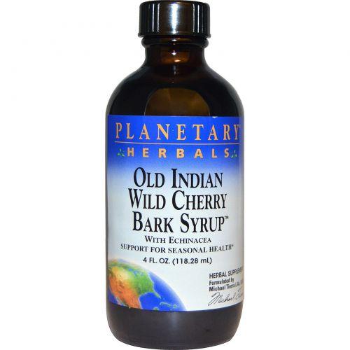 Planetary Herbals, Сироп из коры дикой вишни по старинному индийскому рецепту, 4 жидких унций (118.28 мл)