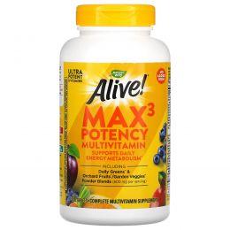 Nature's Way, Alive! максимальное действие, мультивитамины, без добавления железа, 180 таблеток