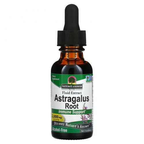Nature's Answer, Астрагал, не содержит спирта, 2000 мг, 1 жидких унций (30 мл)