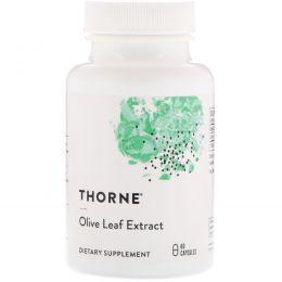 Thorne Research, Экстракт листьев оливкового дерева, 60 вегетарианских капсул