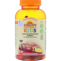 Sundown Naturals Kids, Complete Multivitamin Gummies, Disney Cars 3, Grape, Orange & Cherry Flavored, 180 Gummies